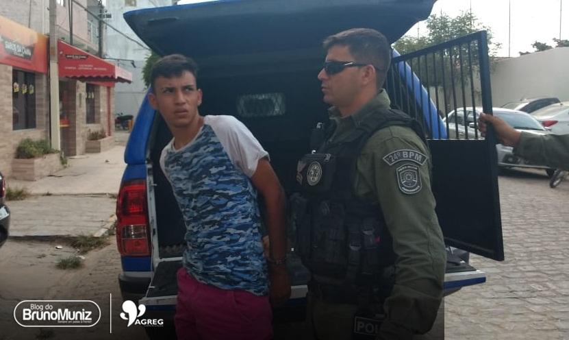 Homem é preso horas depois de furtar motocicleta no bairro Dona Lica