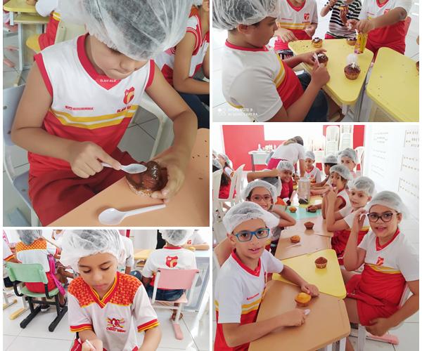 Oficina de Cupcake foi sucesso no Instituto Olavo Bilac
