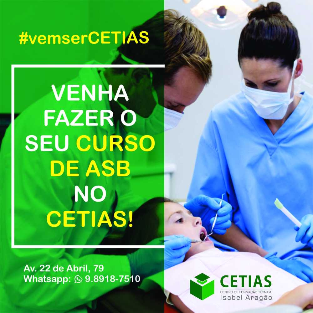CETIAS oferece curso de Auxiliar de Saúde Bucal em Santa Cruz do Capibaribe
