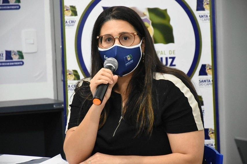 Secretária de saúde de Santa Cruz do Capibaribe está com a Covid-19
