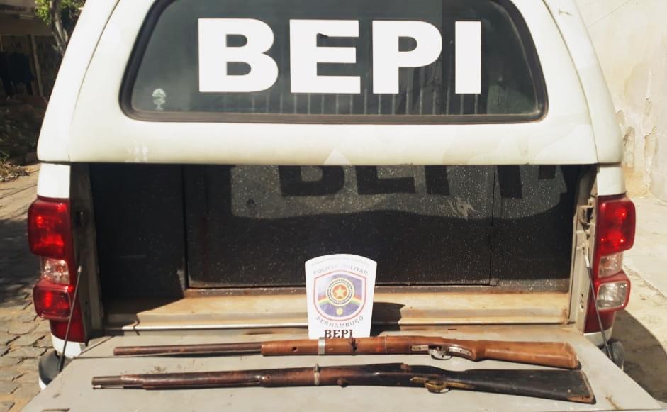 BEPI apreende armas e entorpecentes em Toritama