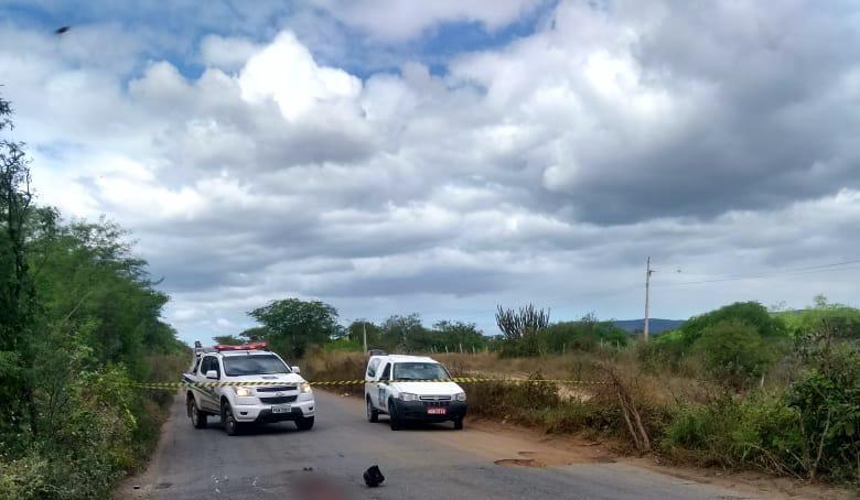Acidente violento vitima homem em Santa Cruz do Capibaribe