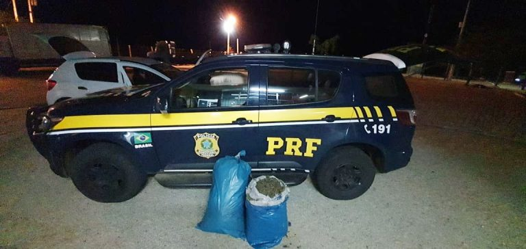 Homens são detidos pela PRF com 23 quilos de maconha no Sertão de Pernambuco