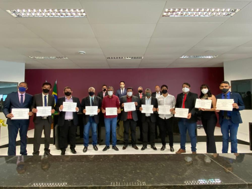 Prefeito Lero, vice Gena e vereadores são diplomados em Taquaritinga do Norte
