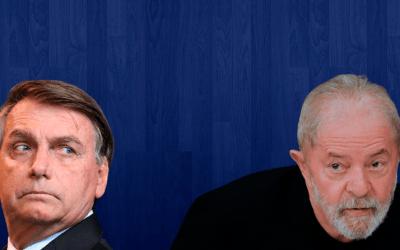 Pesquisa IPEC mostra polarização da disputa em 2022 entre Lula e Bolsonaro