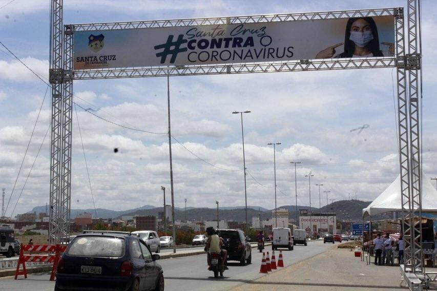 Santa Cruz amplia medidas de enfrentamento ao coronavírus com novas barreiras sanitárias