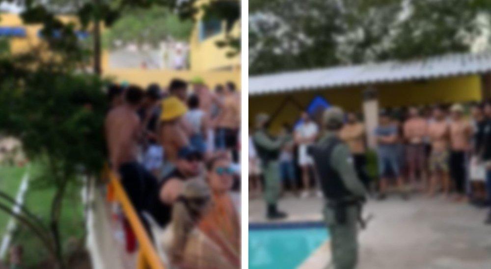 Polícia acaba com festa de jovens na zona rural de Caruaru