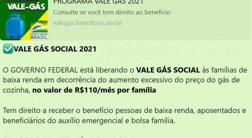 """Golpe no WhatsApp promete """"vale-gás"""" de R$ 150 para famílias de baixa renda; saiba como se proteger"""