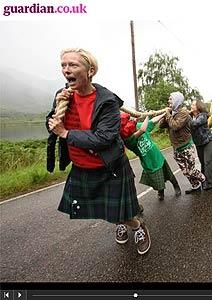 Atriz dá duro para levar cinema ao interior escocês