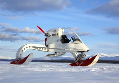 Concept Ice Vehicle (CIV) - em um local onde a velocidade máxima dos veículos é de menos de 50Kh/h, a velocidade máxima de 136Km/h do CIV impressiona! Não é só isso, ele é movido a biocombustível, e pesa apenas 360Kg, o que lhe permite ser puxado por outro veículo sem grandes contratempos