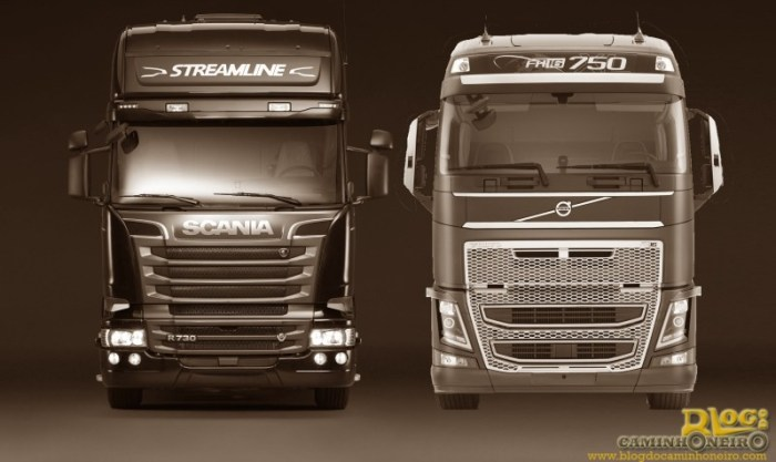 scania r730 vs volvo fh16 750