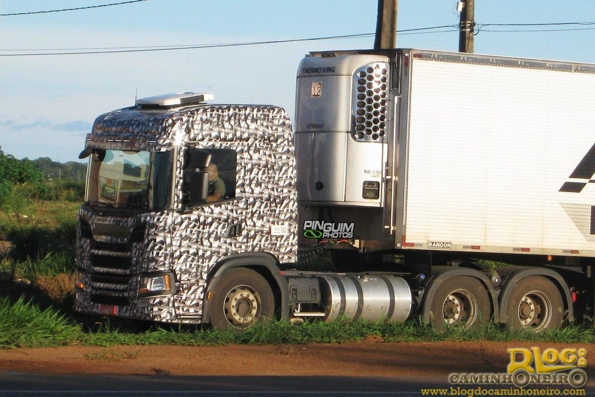 Nova Scania P é flagrada em testes no Brasil