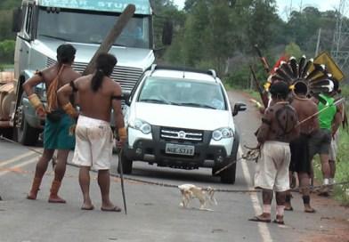 Caminhoneiro mostra fila em pedágio indígena em rodovia e faz desabafo