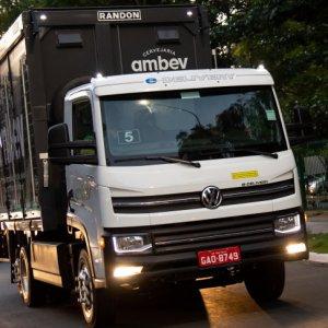 Volkswagen e-Delivery já rodou mais de 15 mil km em um ano pela Ambev
