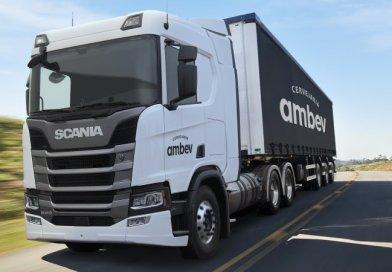 Scania apresenta caminhão movido a gás liquefeito na Fenatran
