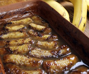 Banana flambada ao forno