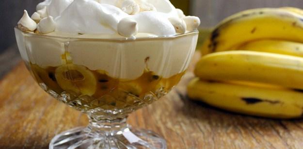 Gelado de banana e maracujá