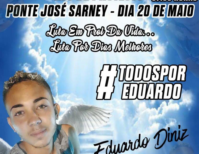 Família de jovem que faleceu em acidente causado por animal na pista, realizará ato de protesto no próximo dia 20 de maio na ponte Sarney em Pinheiro