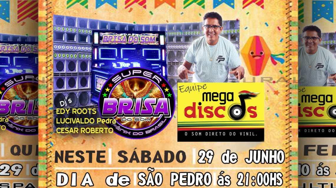 Equipe mega discos irá abrilhantar programação no espaço cultural de Pinheiro no próximo sábado (29)