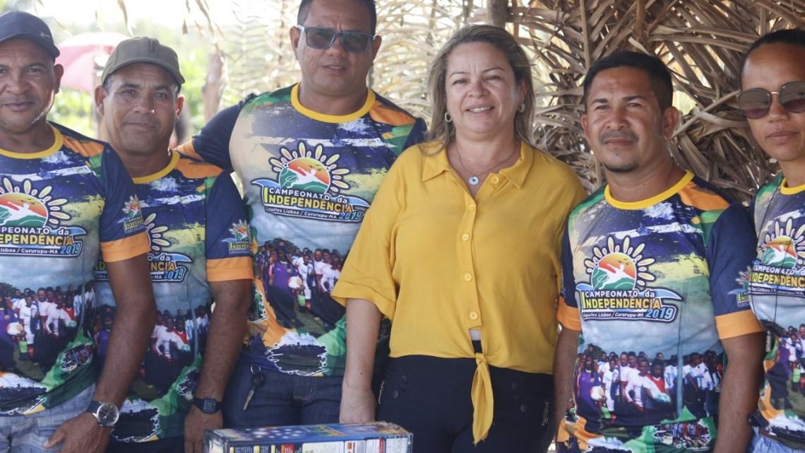Vereadora Mulher Maravilha, apoia e participa do campeonato da independência no povoado Aquiles Lisboa em Cururupu
