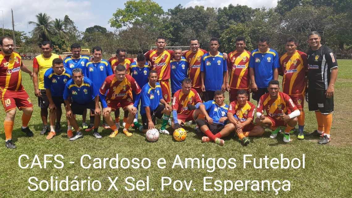 Pinheiro – Cardoso e amigos futebol solidário (CAFS), realiza grande partida no povoado Esperança
