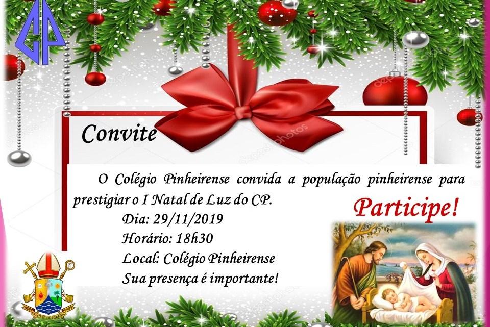 Pinheiro – Primeiro Natal de luz do Colégio Pinheirense será realizado nesta sexta-feira 29, confira a programação