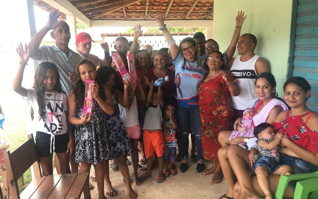 Cururupu – Vereadora Mulher Maravilha visita povoado Baiano e realiza ouvidoria itinerante com ação social na comunidade