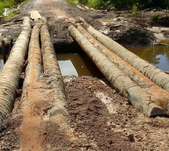 Luciano Genésio abandona polo Paraíso, e moradores são obrigados a construir pontes com troncos de palmeiras de babaçu para não ficarem isolados
