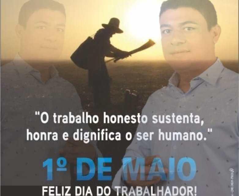 Aldo Passinho parabeniza todos os trabalhadores e trabalhadoras de Porto Rico do Maranhão, confira