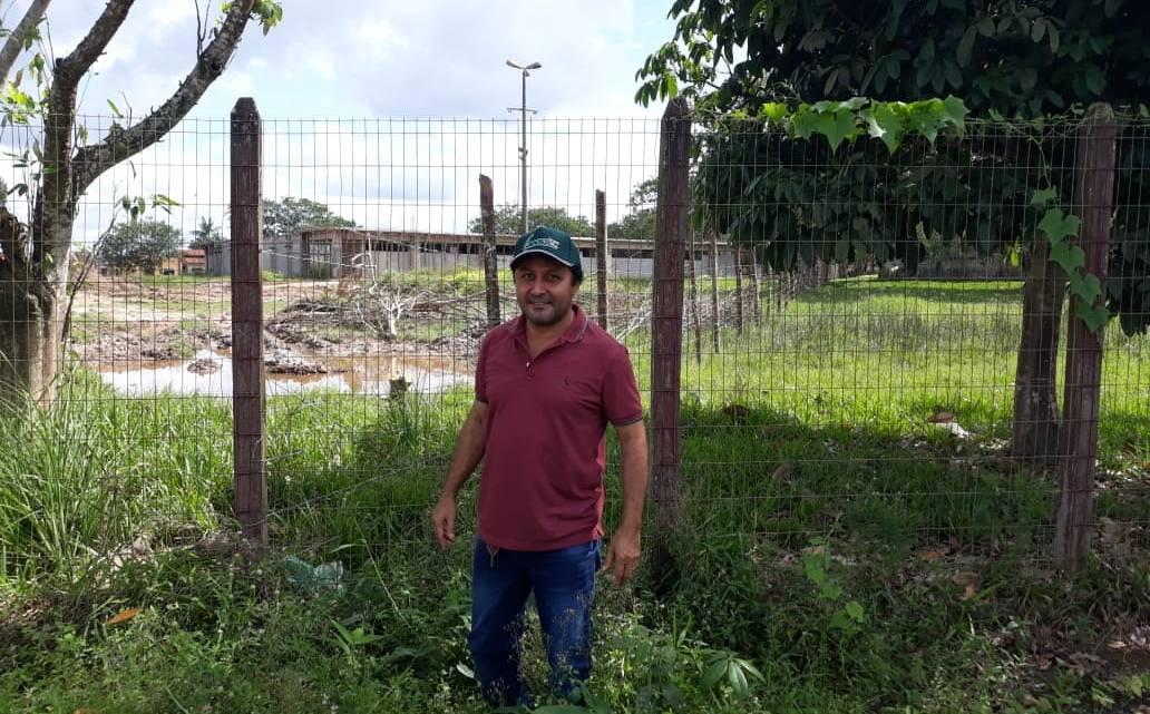 Vereador Riba do Bom Viver denuncia abandono do complexo esportivo do parque do povão em Pinheiro
