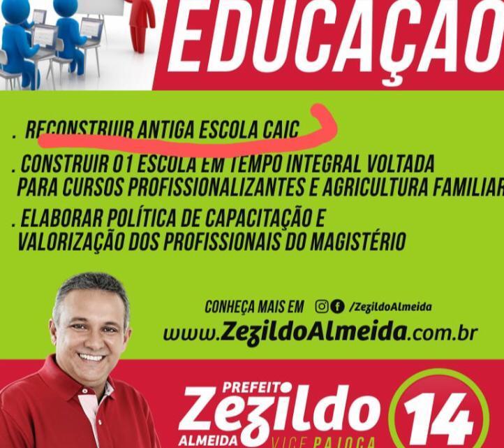População Helenense cobra reforma do CAIC, prometida pelo prefeito Zezildo na campanha de 2016