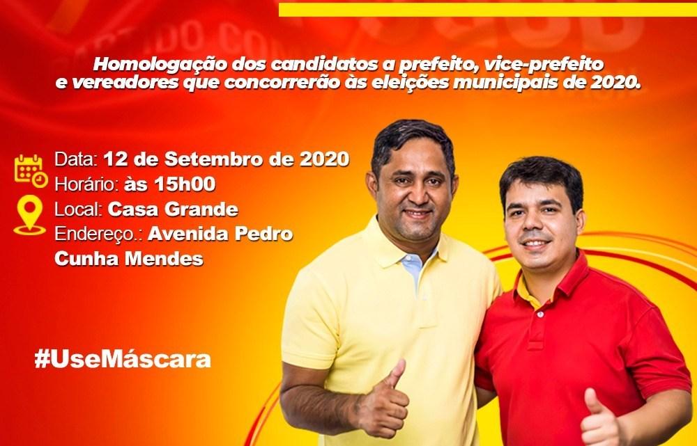 Pedro do Rosário – Convenção que homologará nomes de Toca Serra e Fábio Mendes, acontece neste sábado (12)
