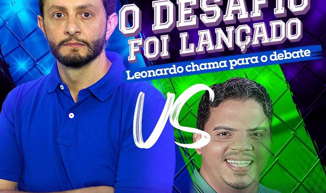 Com medo – Luciano Genésio corre de debate com Leonardo Sá