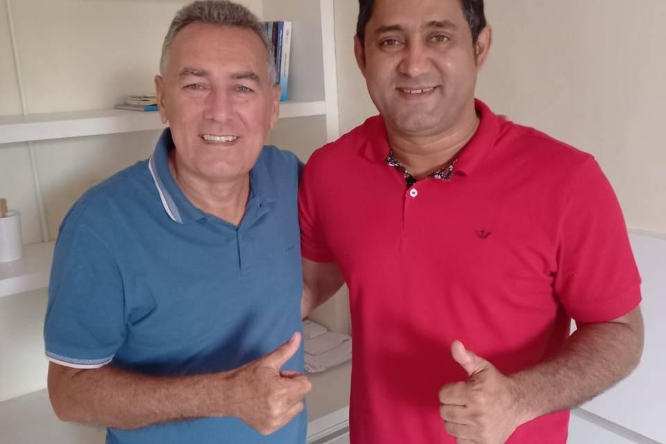 Prefeito eleito de Pedro do Rosário Toca Serra do PCdoB, se reúne com o prefeito eleito de Viana Carrinho Cidreira do PL, e discutem parcerias para seus Municípios