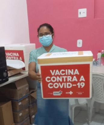 Prefeitura de Porto Rico do Maranhão recebe primeiro lote de vacinas contra o coronavírus
