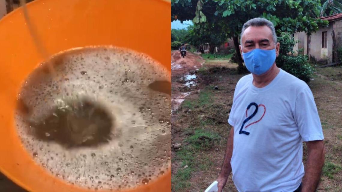 Prefeito Carrinho fornece água poluída para os vianenses