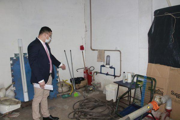 Santa Helena – Vereador Braz Amaral, denuncia falta d'água na rodoviária e cobra da prefeitura solução imediata do problema