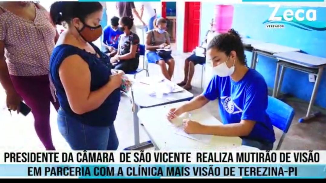 Parceria do vereador Prof. Zeca e clínica mais visão, ofereceu consultas e exames oftalmológicos de forma gratuita para população de São Vicente Ferrer neste domingo (30), veja