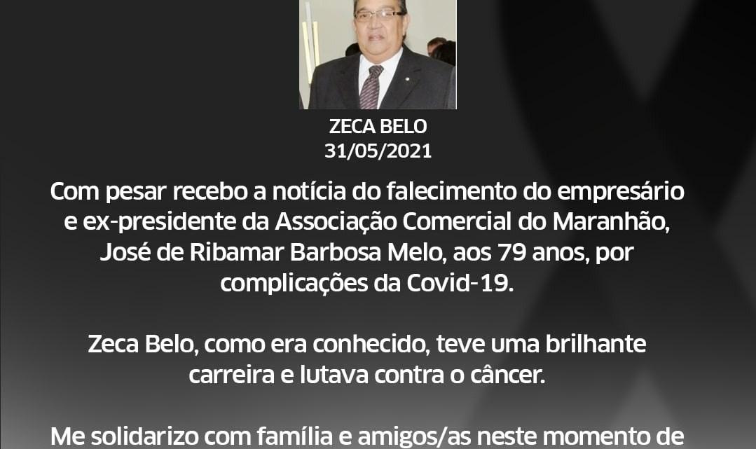 Dr. Leonardo Sá emite nota de pesar pelo falecimento de Zeca Belo