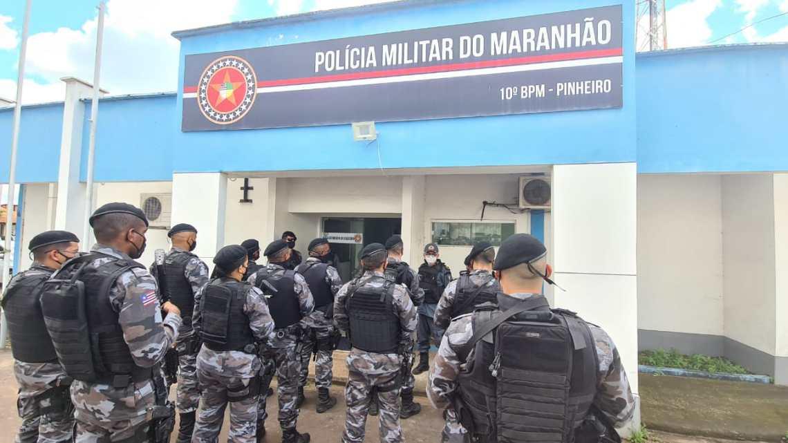 Pinheiro – 10º Batalhão recebe Força Estadual Integrada de Segurança Pública (FEISP)