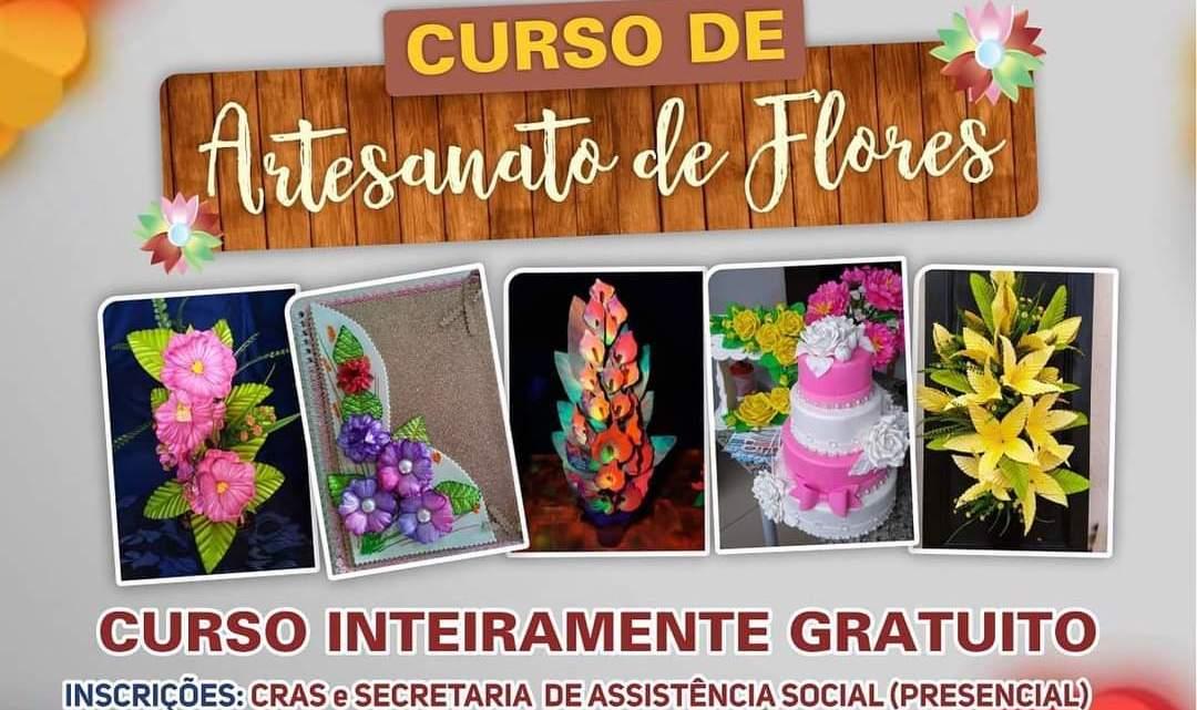 Prefeitura de Porto Rico através da Secretaria de Assistência Social, oferece de forma gratuita curso de artesanato de flores para as mulheres do Município