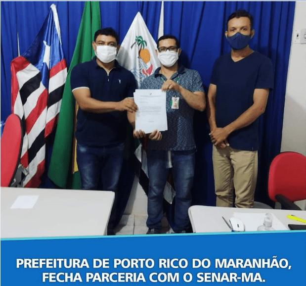 Prefeitura de Porto Rico fecha parceria com SENAR-MA, e produtores rurais do Município serão beneficiados com cursos profissionalizantes