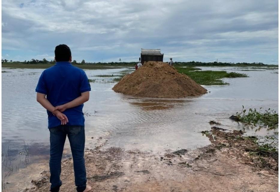 Pinheiro – Vereador Felipe de Chicão fiscaliza a recuperação de trechos da barragem do Cerro