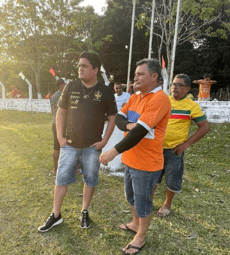 Pinheiro – Vereador Felipe de Chicão, participa da abertura do campeonato de futebol masculino no povoado Japonês