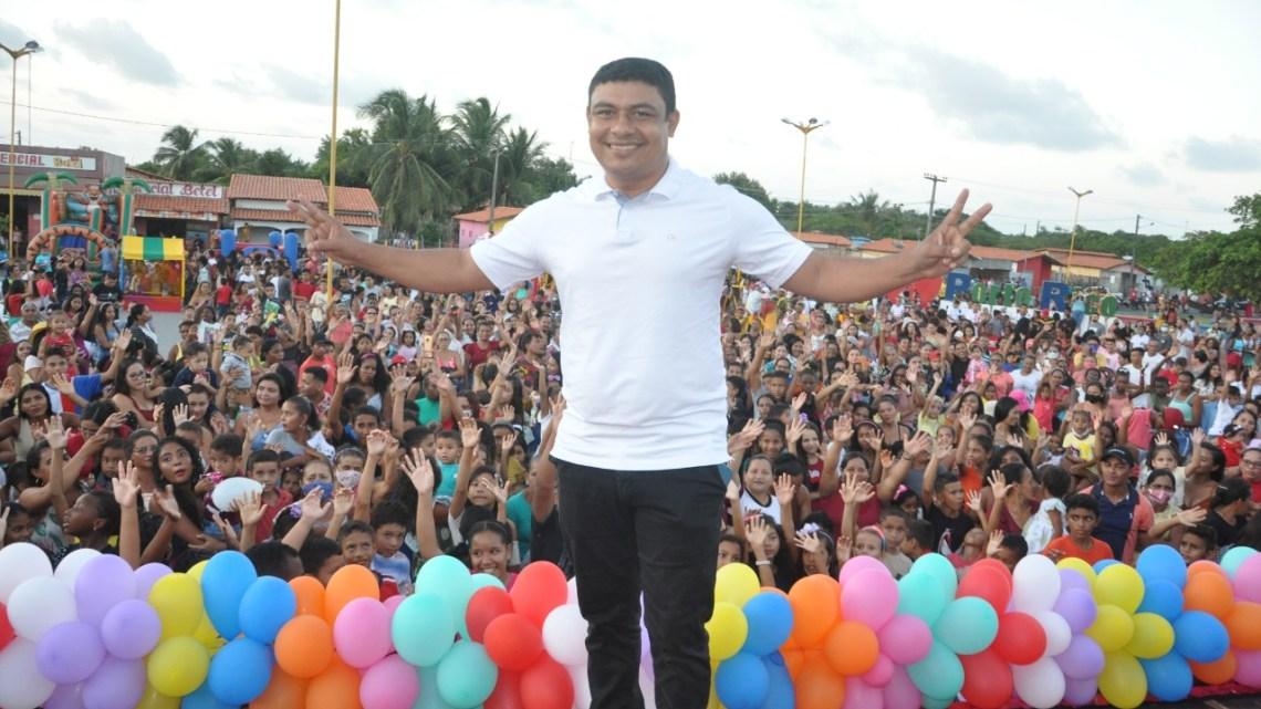 Prefeitura de Porto Rico do Maranhão, realiza a maior festa das crianças da história do Município