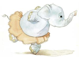 Elefante com minissaia