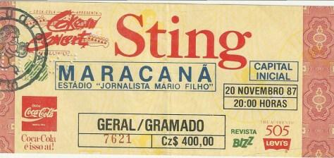 Ingresso Sting 1984