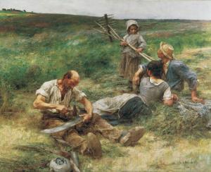Van Gogh Haymaking