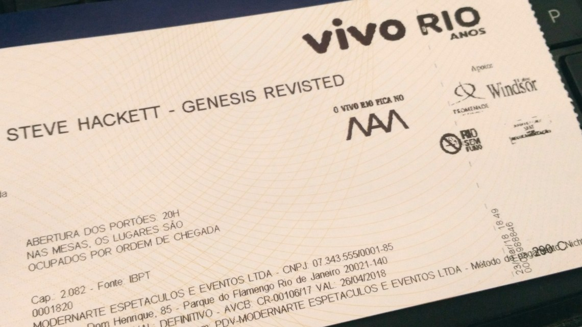 Steve Hackett – Vivo Rio – 23-03-2018 – O lado progressivo do Genesis
