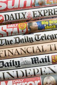 Vários jornais ingleses parecem ter achado o caminho do dinheiro